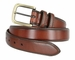 "Men's Genuine Leather Dress Belt 1-3/8"" Wide - Brown2"