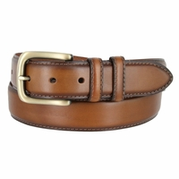 "Men's Genuine Leather Dress Belt 1-3/8"" Wide - Tan"