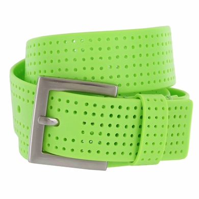 3301500 PGA TOUR Silicone Perforated Golf Belt - Lime Green