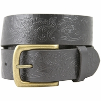 36 Western Vintage Engraved Belt-Black