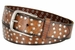 "3806026 Full Leather Vintage Studded Casual Jean Belt 1-1/2"" Wide"