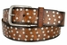 "3806026 Full Leather Vintage Studded Casual Jean Belt 1-1/2"" Wide1"