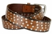 "3806026 Full Leather Vintage Studded Casual Jean Belt 1-1/2"" Wide4"