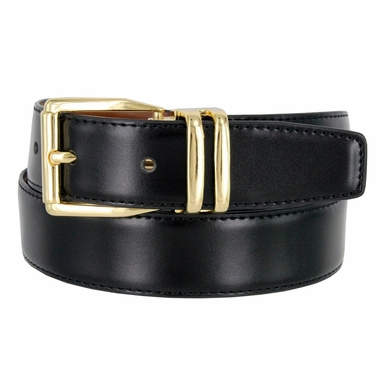"4010D-GP-160502 Men's Reversible Genuine Leather Dress Casual Belt 1-1/8"" (30mm) wide - Black/Tan"