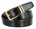 "4010D-GP-160502 Men's Reversible Genuine Leather Dress Casual Belt 1-1/8"" (30mm) wide - Black/Tan1"