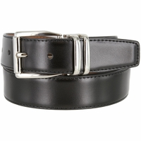 "4010D-NP-160502 Men's Reversible Genuine Leather Dress Casual Belt 1-1/8"" (30mm) wide - Black/Tan"