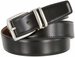 "4010D-NP-160502 Men's Reversible Genuine Leather Dress Casual Belt 1-1/8"" (30mm) wide - Black/Tan1"