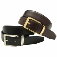 4089 Allan Men's Dress Leather Belt Reversible Belt