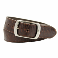 "Men's Snap On Vintage Leather Belt 1-1/2"" (38 mm) - Brown"