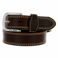 "4301300 John Deere Boy's Dress casual Leather Belt 1-1/4"" - Brown"