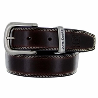 "4305300 John Deere Boy's Leather Dress Belt 1-1/8"" Wide - Brown"