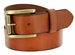 "P4252 Men's One Piece Full Leather Casual Jean Belt 1-1/2"" wide"