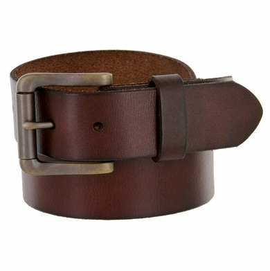 "4317 Men's One Piece Full Leather Casual Jean Belt 1-1/2"" wide"