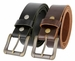 "Roller Buckle Casual Jean Belt Full Grain Leather Belt 1-1/2"" Wide"
