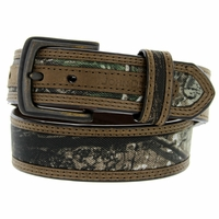 4322300 John Deere Realtree Fabric Camouflage Leather Dress Belt 1-1/4""