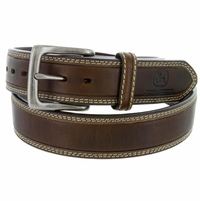 "4540500 John Deere Boy's Dress Casual Leather Belt 1-1/2"" Brown"