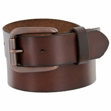 "476702 Men's One Piece Full Grain Leather Casual Jean Belt 1-1/2"" wide"