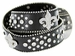 50124 Western Cowgirl Fleur-de-lis Bling Rhinestone Leather Belt - Black1