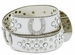 50125 Western Cowgirl Bling Horseshoe Rhinestone Leather Belt - White1