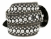 "50158 Women's Western rhinestone studded Leather Belt 1-1/2"" Wide - Black2"