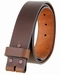 """5138 Made in USA One Piece Full Leather Belt Strap 1-1/2"""" (38mm) Wide - Brown5"""