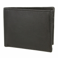 51401 Genuine Leather Bifold Wallet - Black