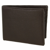 51401 Genuine Leather Bifold Wallet - Brown