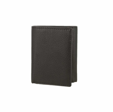 51403 Genuine Leather Trifold Wallet - Black