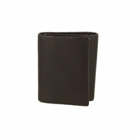 51403 Genuine Leather Trifold Wallet - Brown
