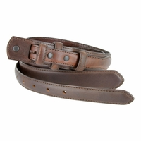 "Genuine Leather Ranger Belt Strap 1-3/8"" tapering to 3/4"" wide-Brown"