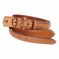 "Genuine Leather Ranger Belt Strap 1-3/8"" tapering to 3/4"" wide-Tan"