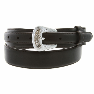 Oil Tanned Leather Ranger Belt - Brown