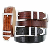 5998 Italian embossed Calfskin Leather Dress Designer Belt
