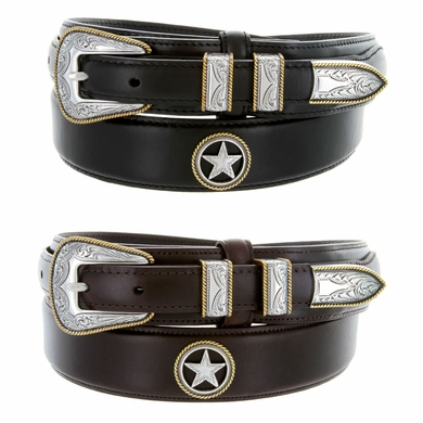 6129 Men's Oil Tanned Leather Ranger Belt