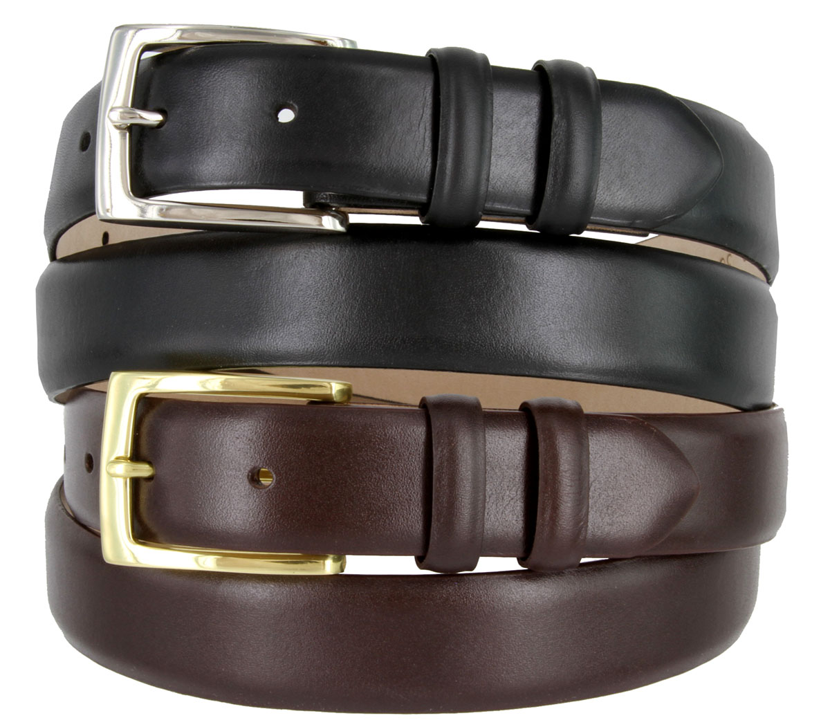 6165 Men s Italian Calfskin Leather Dress Belt 1-1 8