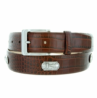 "6357 Italian Calfskin Leather Golf Belt 1 3/8"" Wide"