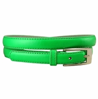 "7055 Solid Green Skinny Dress Belt 3/4"" or 19mm Wide"