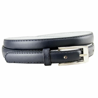 "7055 Solid Navy Skinny Dress Belt 3/4"" or 19mm Wide"