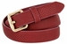 7085 Women's Skinny Matte Snakeskin Embossed Leather Casual Dress Belt - Burgundy1