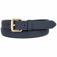7085 Women's Skinny Matte Snakeskin Embossed Leather Casual Dress Belt - Navy