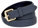 7085 Women's Skinny Matte Snakeskin Embossed Leather Casual Dress Belt - Navy1