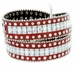 "8047 Women's Western Cowgirl rhinestone-studded Leather Belt 1-1/2"" Wide Red2"