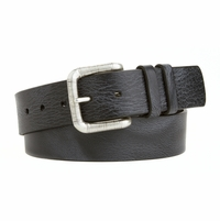 "82131 Lejon Vintage Distressed Italian Saddle Leather belt 1-1/2"" (38mm) wide"