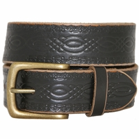 85 Vintage Genuine Leather Belt - Black