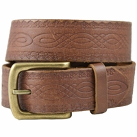 85 Vintage Genuine Leather Belt-Brown