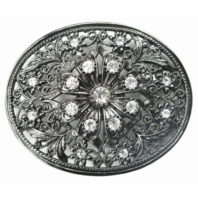 9295 Crystal Stones Belt Buckle