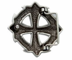 Black stone Cross Celtic Belt Buckle
