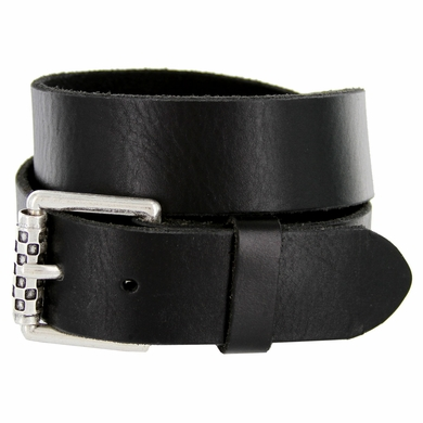99964 Silver Roller Buckle Casual Jean Belt