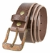"A0023 Vintage Buckle and Genuine Full Grain Leather Belt 1 1/2"" Wide3"