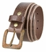 "A0041 Rusty Square Buckle and Genuine Full Grain Leather Belt 1 1/2"" Wide3"